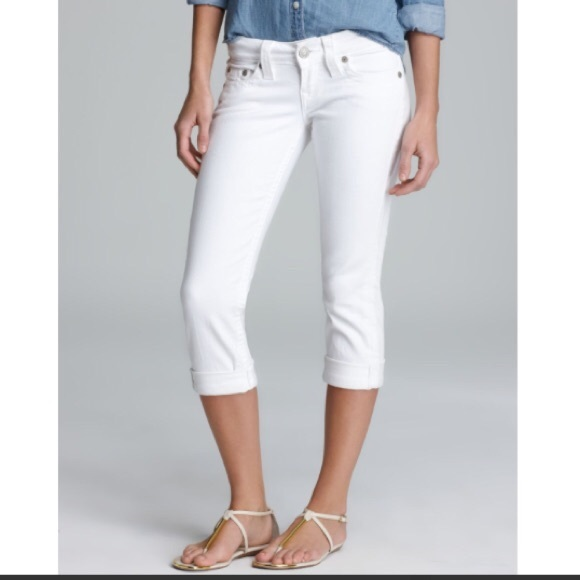 445f454ee6d74 True Religion Jeans | Lizzie White Cropped Size 26 | Poshmark